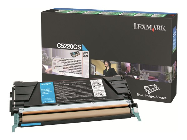 Lexmark Cyan - Original - Tonerpatrone LCCP, LRP