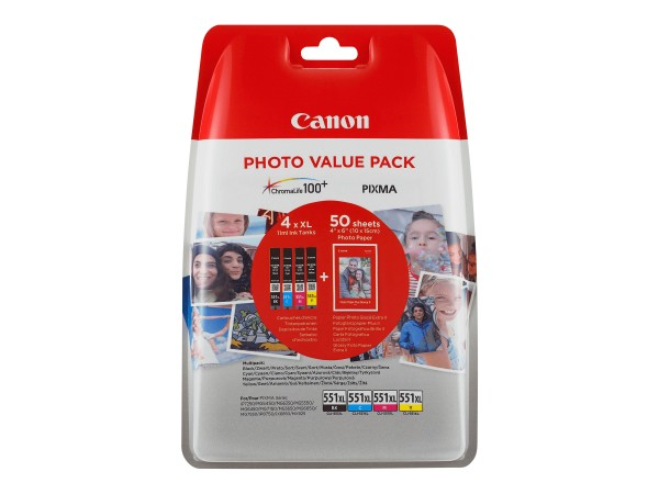 Canon CLI-551XL C/M/Y/BK Photo Value Pack - 4er-Pack