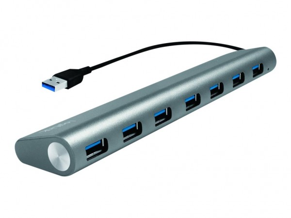 LogiLink USB 3.0 Hub 7-Port with Card Reader, Aluminum