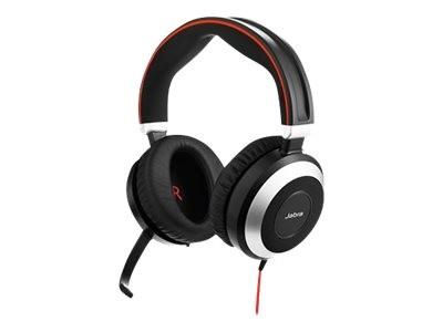 Jabra Evolve 80 UC stereo - Headset - ohrumschließend