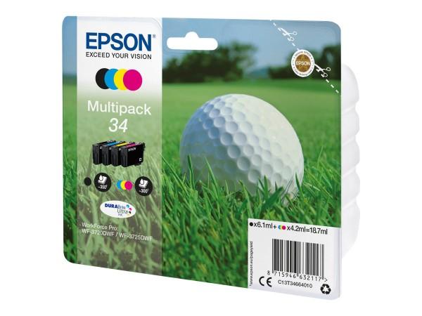 Epson 34 - 4er-Pack - Schwarz, Gelb, Cyan, Magenta