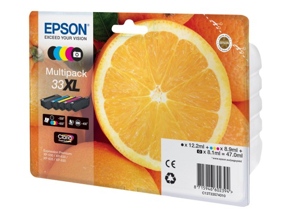 Epson 33XL Multipack - 5er-Pack - 47 ml - XL