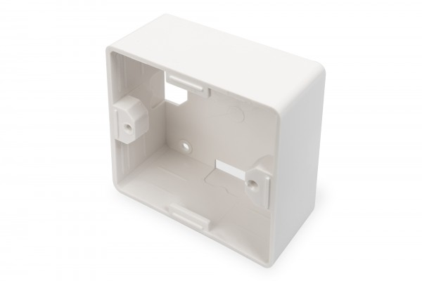 DIGITUS Aufputzrahmen für Keystone Leerdosen 80x80 mm, Deutscher Typ