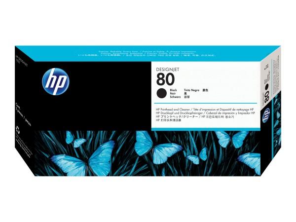 HP 80 - 17 ml - Schwarz - Druckkopf mit Reiniger