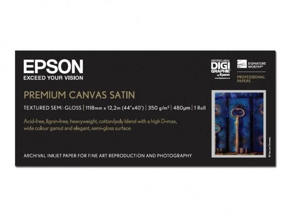Epson PremierArt Water Resistant Canvas - Glänzend - Rolle (111,8 cm x 12,2 m)