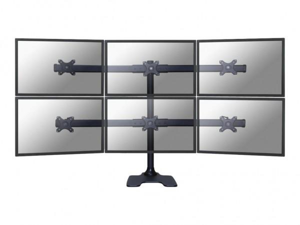 NewStar FPMA-D700DD6 - Tischhalterung für 6 LCD-Displays - Schwarz - Bildschirmgröße: 25.4-68.6 cm (